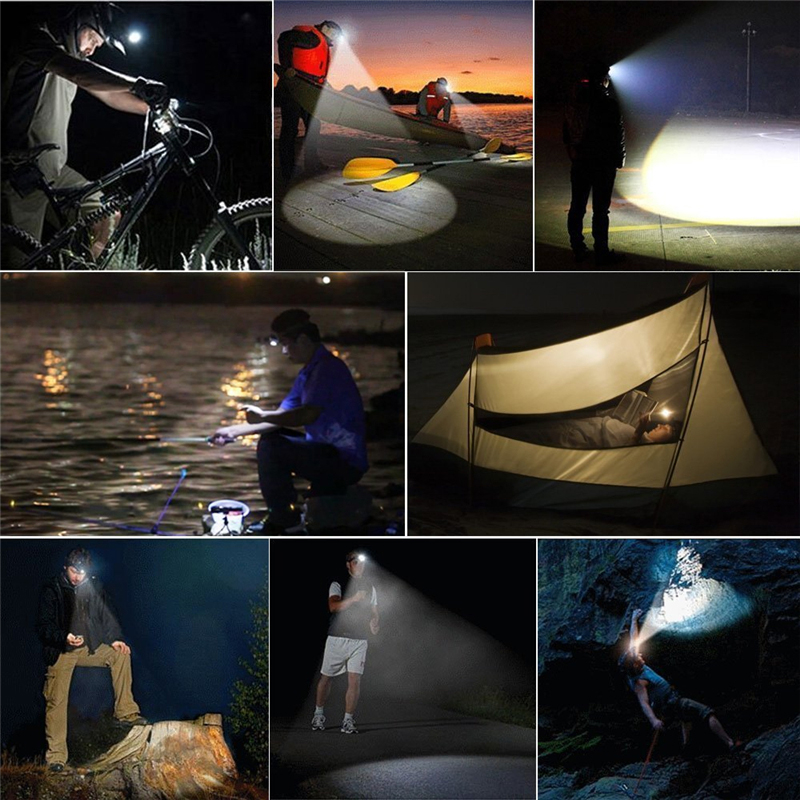 HUSUYUHU SISI 36000LM USB 9 LED Led Headlamp Headlight Head Flashlight Torch XM L T6 Head Lamp Rechargeable for 18650 Battery in Headlamps from Lights Lighting