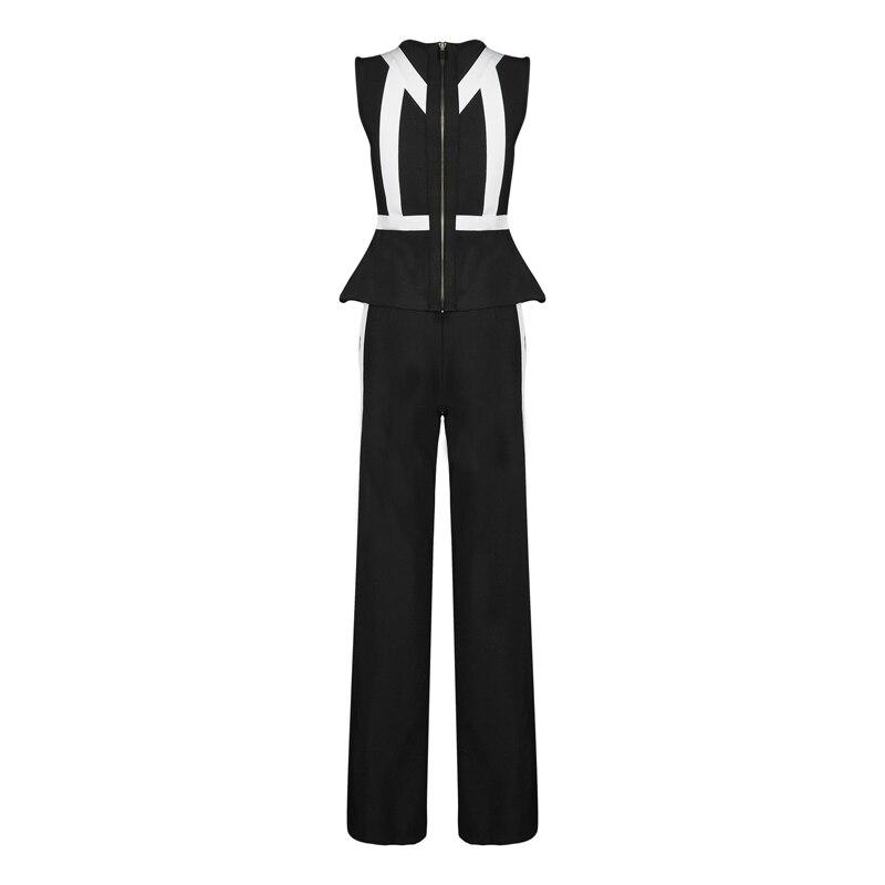Nouveau Fête Blanc Et Patchwork Combinaisons Combinaison Noir Pièces Style Top 2 Deux Célébrité Qualité 2018 Mode Élégant Bandage qpUa7dqCw