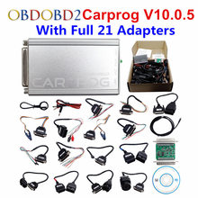 Auto Repair Tool Carprog Car Prog V10.0.5 With Full 21 Adapters For Radio Odometer Dashboard Immobilizers ECU Chip Tuning Tool