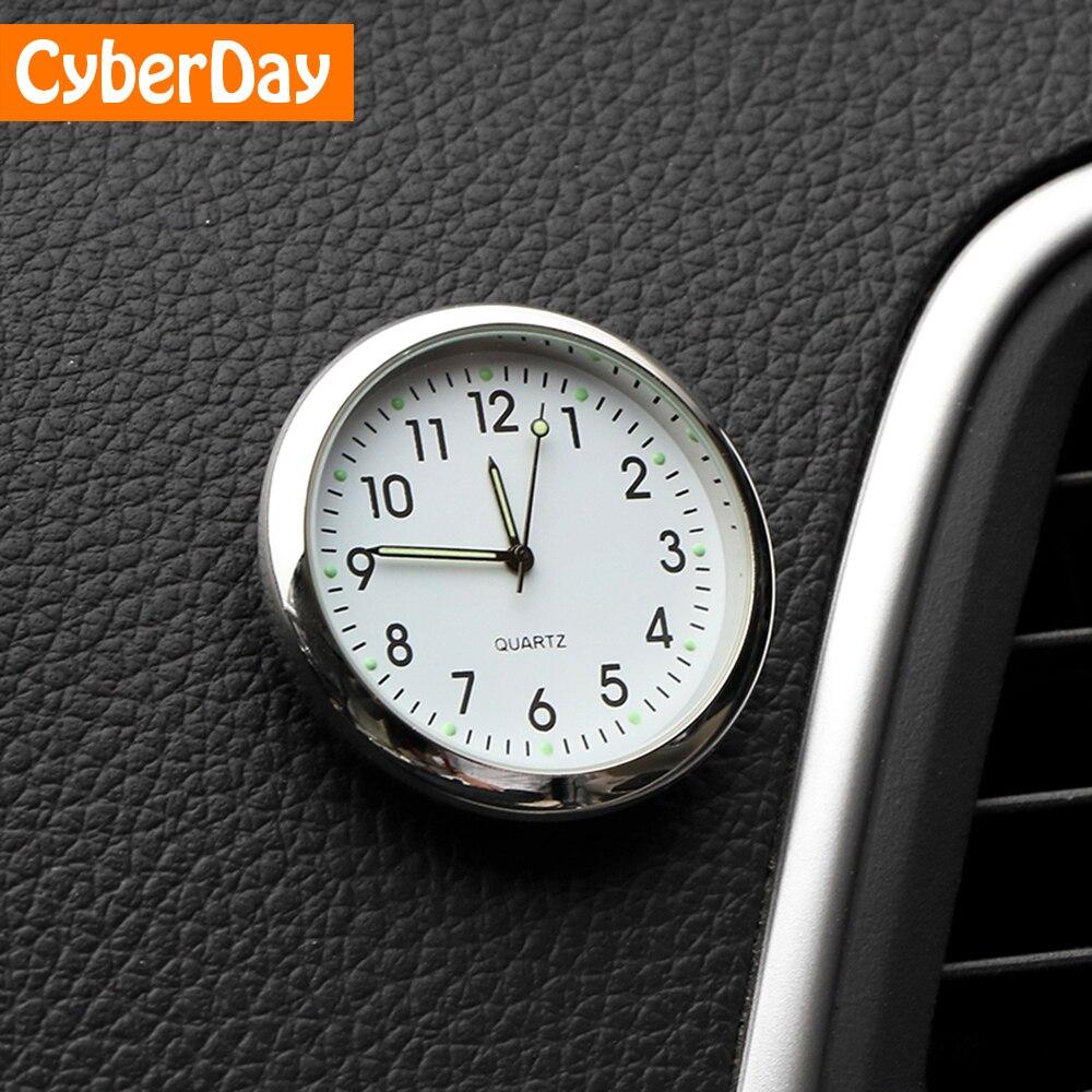 Auto Ornament Automotive Uhr Auto Uhr Autos Interior Dekoration Stick-Auf Uhr Ornamente Zubehör Weihnachten Geschenke