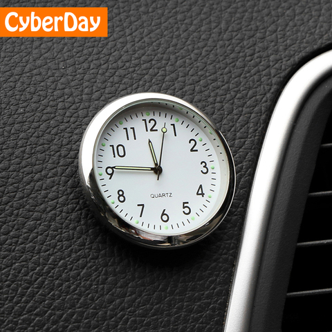 Car Ornament Automotive Clock Auto Watch Automobiles Interior Decoration Stick-On Clock Ornaments Accessories Christmas Gifts Pakistan