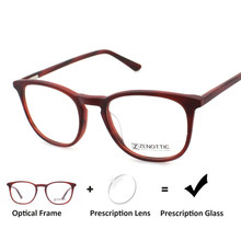 14a9d02cd4 Acetate Women Prescription Glasses Photochromic Optical Myopia Transition  Progressive Blue Light Retro Eyeglasses BT4009