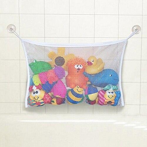 HOT Baby Toy Mesh Storage Bag Bath Bathtub Doll Organizer Suction Bathroom Stuff Net 91MG