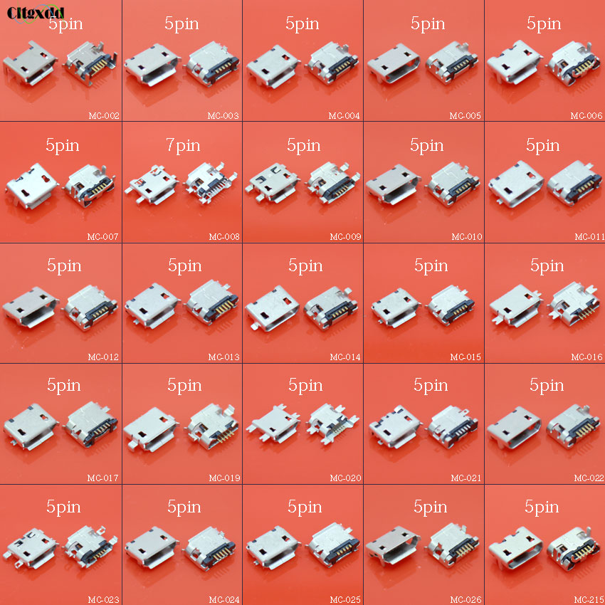 cltgxdd 25~100pcs 5 pin 7 pin Micro USB jack,USB socket,USB connector charging port for Samsung Lenovo Huawei ZTE tablet GPS ect 5pcs high quality original charging port for samsung s3 i9300 i9308 i939 micro 11pin usb connector free shipping