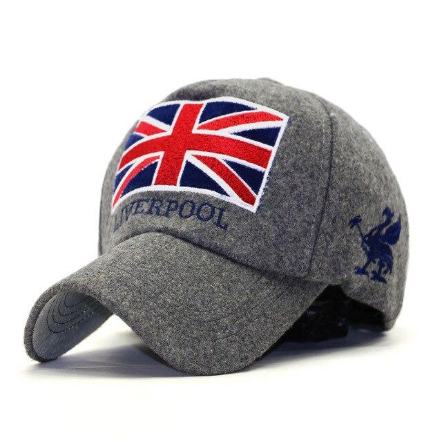 2017 autunno inverno moda Anziano inverno di lana pettinata england union  jack bandiera berretto da baseball dda36b75732b