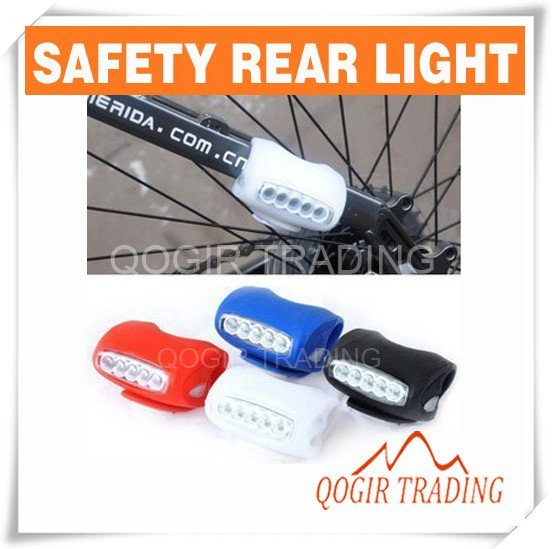 Silicone 5 LED Bicycle Bike Caution Safety Rear Lights 6011