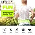 Rock en funcionamiento multifuncional cinturón universal impermeable de lona deportes bolsillos para menores de 6 pulgadas teléfonos