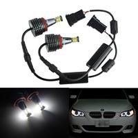 ANGRONG 80W LED Angel Eyes Halo Ring Light H8 Bulb White For BMW 3 Series E92 M3 08 13 E82 E60 E63 X1 X5 X6 Z4