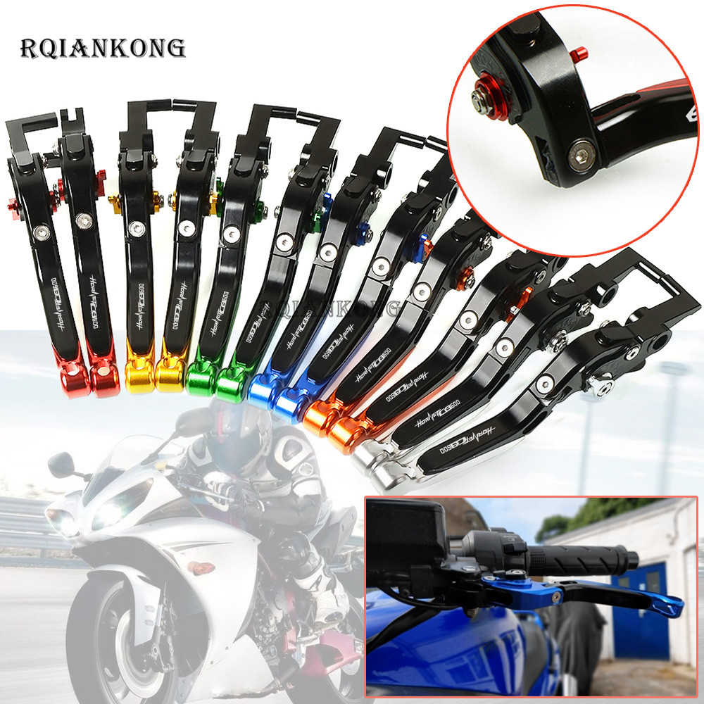 Foldable Extendable Brake Clutch Levers CNC For <font><b>Honda</b></font> CB599 CB600F <font><b>HORNET</b></font> <font><b>600</b></font> 1998 - <font><b>2006</b></font> moto Extending lever Free shipping image