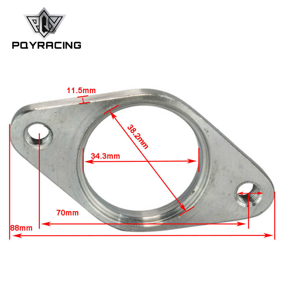 PQY - STAINLESS STEEL WASTEGATE DUMP PIPE 2 BOLT FLANGE WITH THREAD 38MM TURBOCHARGER PQY4831