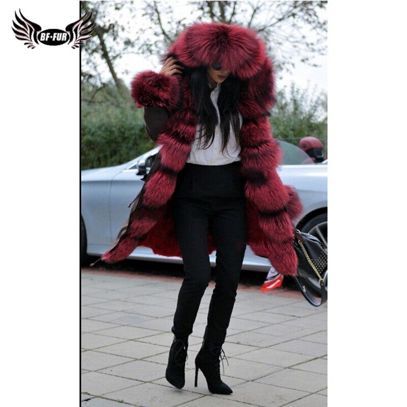 Chaud Avec Épais Russes Manteau Femmes D'hiver Real Hiver Vraie Manteaux Entier Naturel De Parka Imperméable Peau Bffur 2018 Fourrure Luxe Fur 6qSZW0