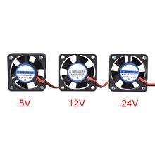 Ventilador de refrigeración sin escobillas para impresora 3D, Mini VENTILADOR DE 5V CC, 12V, 24V, 3010, Cable de 30x30x10MM, radiador de 17CM y 2 pines, negro, para piezas de impresora 3D Reprap