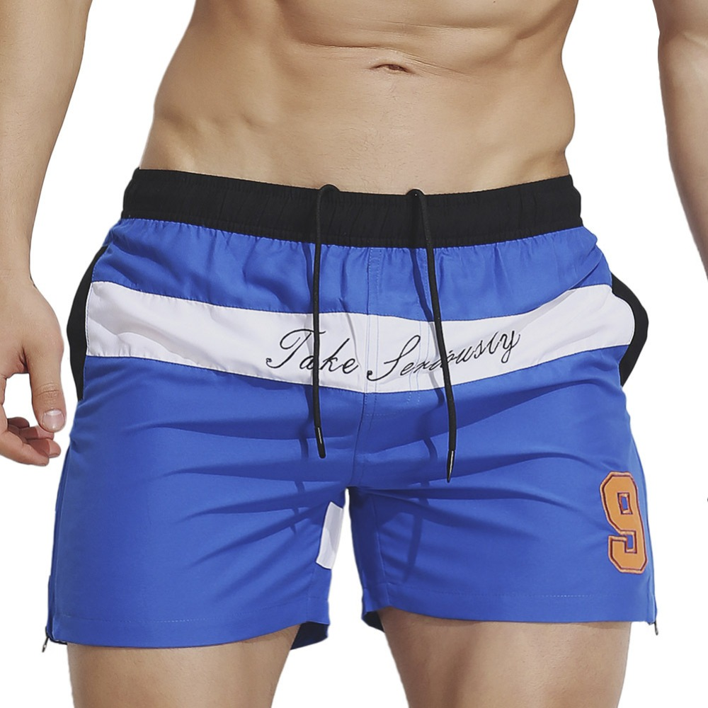 2018 Summer Men Boardshorts Mens   Board     Shorts   Beach Swimming   Short   Contrast Color Quick Dry Male Bermuda Surfing Suit Wear Brand