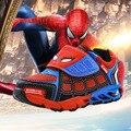 Crianças Sapatos Meninos Esportes Das Meninas Tênis Sapatas Dos Miúdos Do Homem Aranha Moda Vermelho Azul tx0378