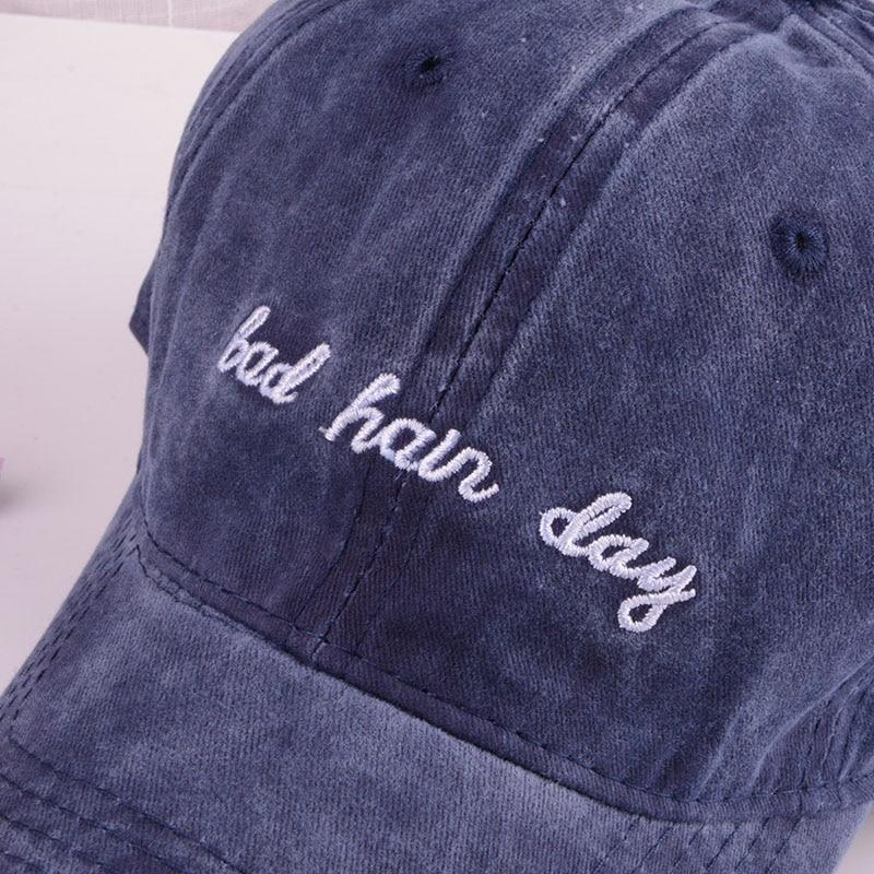 bad hair day baseball cap men women mens baseball cap men black cap dad hat (5)