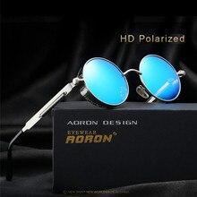 Round Metal Polarized Sunglasses Men Steampunk Brand 2017 Sun Glasses For Men Women Retro Vintage Sunglasses UV400 With Case