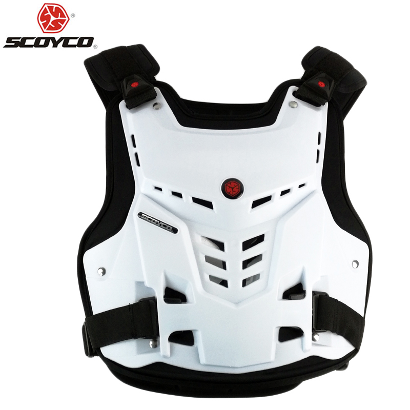 SCOYCO Racing motorcycle armor Motocross Chest Back Protector Armour Vest Racing Protective Body Guard Accessories A