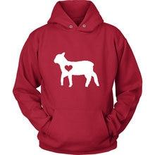 цена Hug your Lamb hoodie / Sheep hoody  Lamb Lover  Lamb gift  Lamb lover  Sheep clothing  barn birthday party  Ram sweatshirt-Z201 онлайн в 2017 году