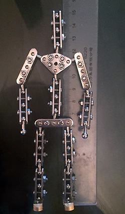 studio armature Ready-made 15cm high metal armature for stop motion puppet