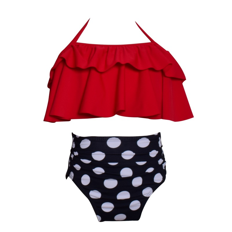 Cute Baby Kids Swimwear Child Bikini swimsuit swimwear high waisted bathing suit for kids baby girls Biquini children swimwear