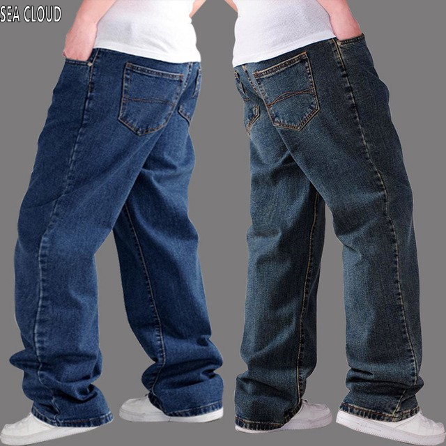 Sea Cloud Free shipping plus size 50 Men  jeans hiphop pants men autumn thick loose factory cotton big trousers denim mens free shipping autumn and winter male straight plus size trousers loose thick pants extra large men s jeans for weight 160kg