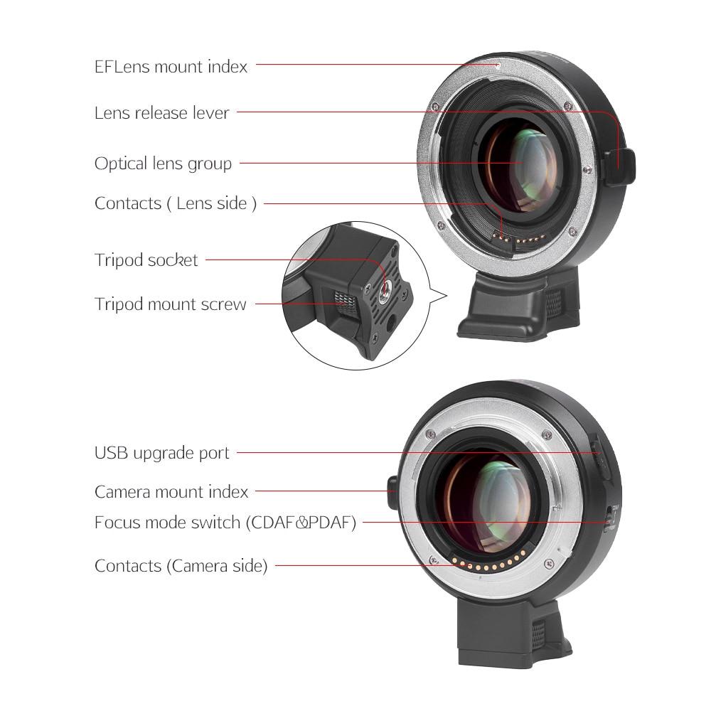 Viltrox EF-M2 AF Automatické zaostřování EXIF 0.71X Redukce - Videokamery a fotoaparáty - Fotografie 2