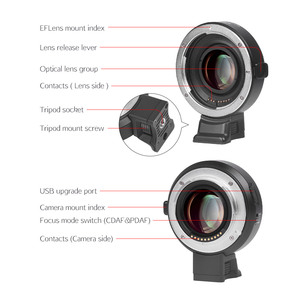 Image 2 - Viltrox EF M2II AF Auto focus EXIF 0.71X Reduce Speed Booster Lens Adapter Turbo for Canon EF lens to M43 Camera GH4 GH5 GF6 GF1