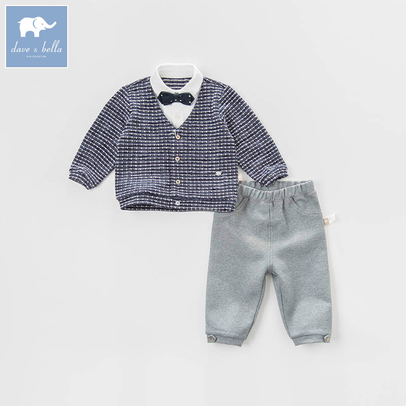DB6960 dave bella spring baby boys clothing sets toddler children suit high quality toddler outfits Clothing Suits db5073 dave bella spring baby boys sports clothing sets turn down collar shirt pants casual boys sets