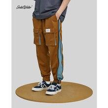 SODAWATER גברים צד רוכסן מכנסי טרנינג Streetwear 2019 סתיו הרמון מכנסיים היפ הופ כיס קדמי ארוך מכנסיים אצן גברים מכנסיים 9356S
