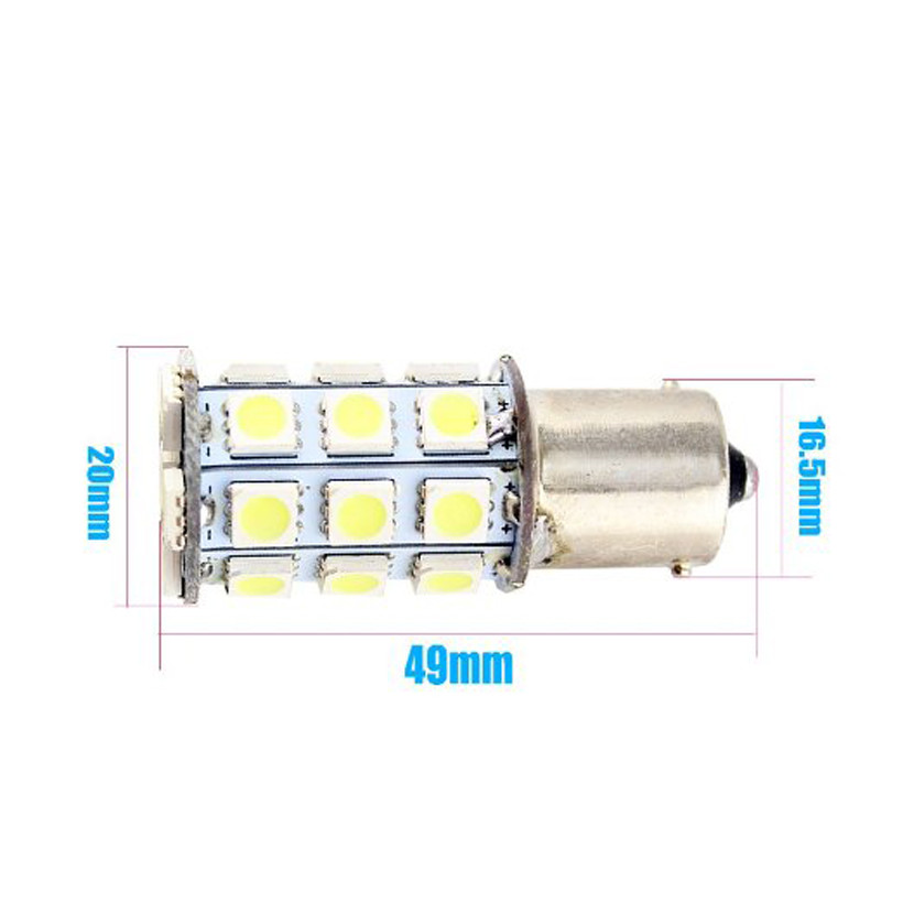 10-pcs-S25-1156-BA15S-27SMD-LED-Replacement-Bulb-For-RV-Car-Turn-Tail-Signal-Bulb