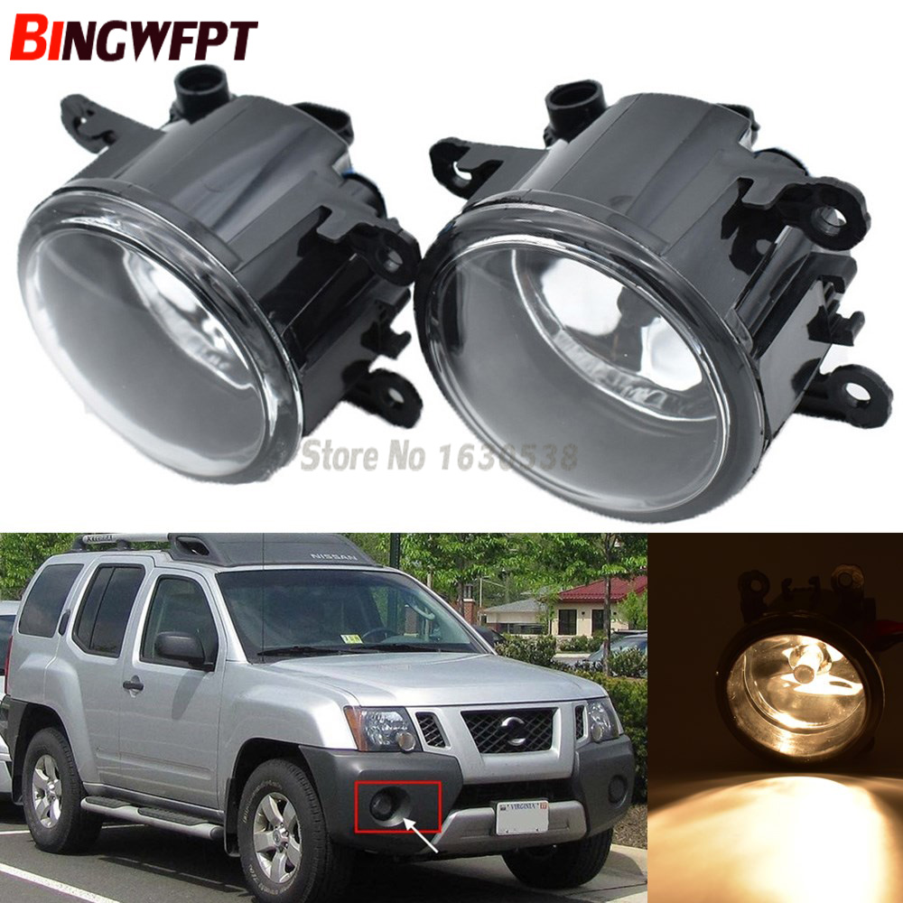 2PCS High Quality Car Styling H11 55W Halogen Fog Lamps Lights 12V 1set For Nissan Xterra 2005-2015