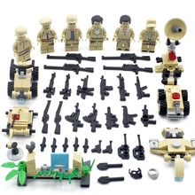NEW 6PCS Desert military SWAT Soldier Special Force Army Weapon Building Blocks font b toys b