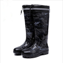 NEW PVC camouflage rubber low Heels Non-slip men Rain Boots Mid-calf Male water Rainboots shoes Waterproof work Water Shoes