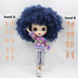 Fortune dias fábrica nude blyth boneca no.280blqe620 azul pouco onda cabelo comum corpo pele branca neo