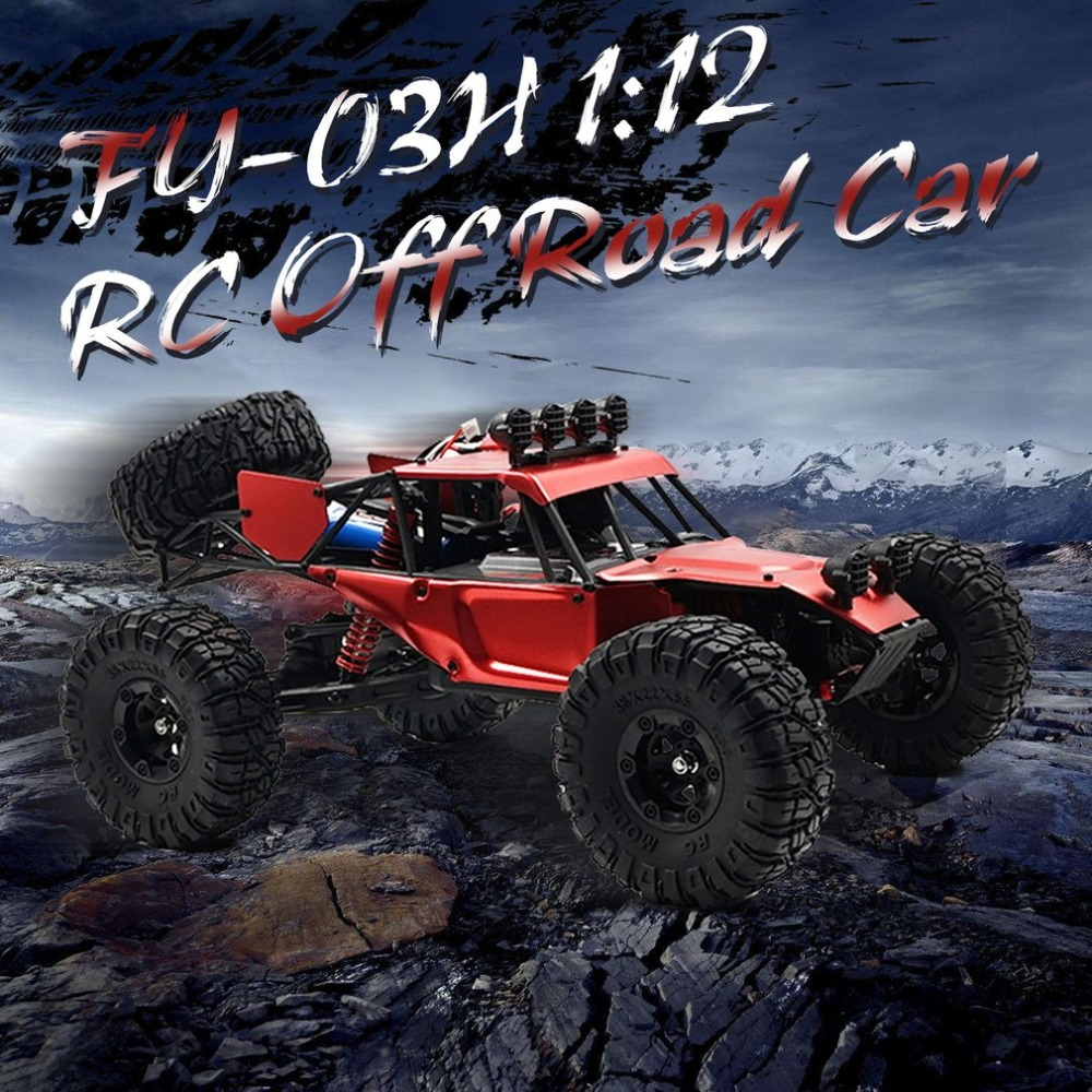 FY 03H 1:12 RC Car 2.4G Off Road Racing Truck Desert Climbing Car 4WD Toy Remote Control Vehicle Rock Crawler Brushless 35km/h