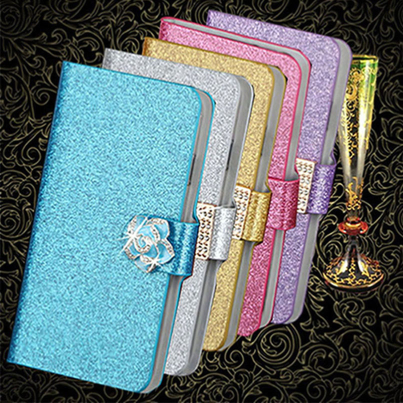 New Fashion Luxury Glitter Diamond Leather Case for ASUS Zenfone Go TV ZB551KL Cover Wallet Stand Original Flip Phone Cover