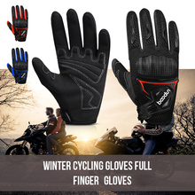 Winter Cycling Gloves Full Finger Windproof Warm Hand Riding Gloves Anti-skid Cold Weather Breathable Bike Gloves for Men Women