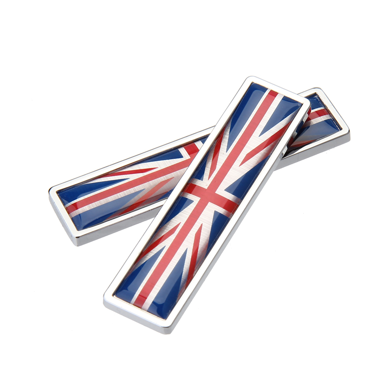 1Pair Britain Flag Emblem Badge 3D Metal Car Sticker Car-Styling Creative Logo 3M Decals 1 pair door protector anti collision canada flag emblem 3d car stickers creative car styling automobile accessories