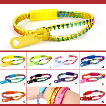 Pulsera colorida de la cremallera de la gran oferta 1 pc/creativo/artículo popular de los estudiantes brazaletes de Las pulseras de la moda para mujeres y hombres
