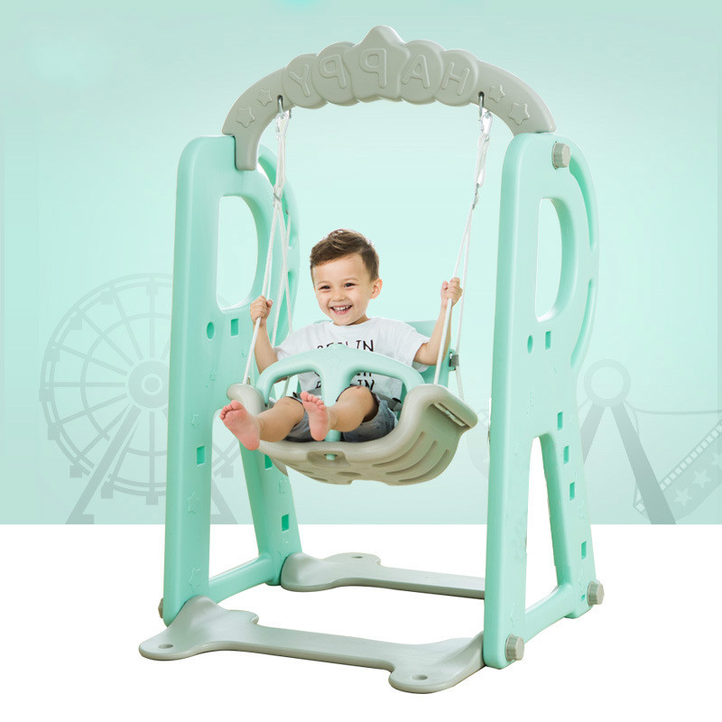 LK83 Children Indoor and Outdoor Plastic Adjustable Swing Stable and Safety Hanging Chair High Quality Baby Kids Play Toy