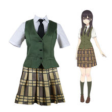 ea5958242f7 Citrus Aihara Yuzu Cosplay Costume Aihara Mei Japanese Anime Uniform Suit  Outfit Clothes full set wig for women party dress