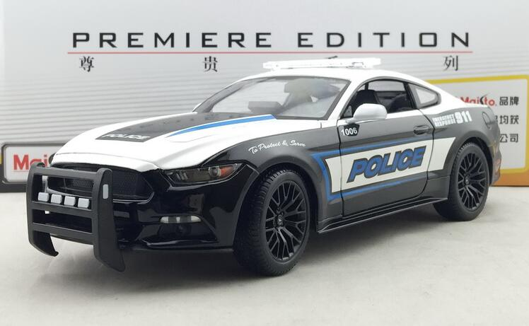 2015 hot sell ford new mustang gt need for speed police car 1 18 alloy car model in diecasts. Black Bedroom Furniture Sets. Home Design Ideas