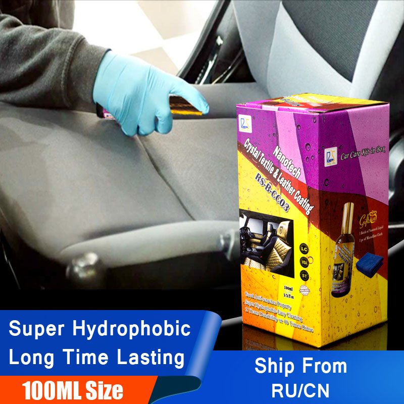 Rising Star RS-B-CC03 Hydrophobic Nano Coating Car Upholstery & Seat Water Repellent Crystal Textile & Leather Coating 100ml