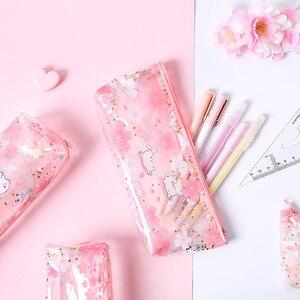 1 Pcs Kawaii Pencil Case Cherry blossom rabbit Gife Estuches School Pencil Box Pencil Bag School Supplies Stationery make up