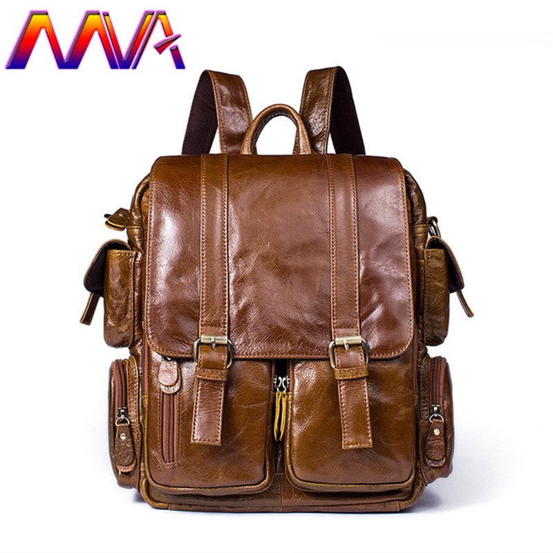 MVA Cowhide Leather women backpack with 100% genuine leather backpack for fashion girl backpack of casual men backpacks cardamom fashion leather backpack women bags cowhide leather bagpack with colorful patchwork backpacks for women