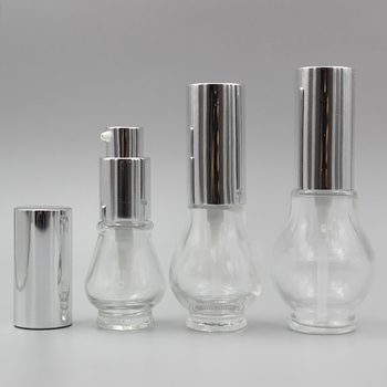 30ml serum bottle pump clear cosmetic packaging, 1 oz essential oil pump bottle