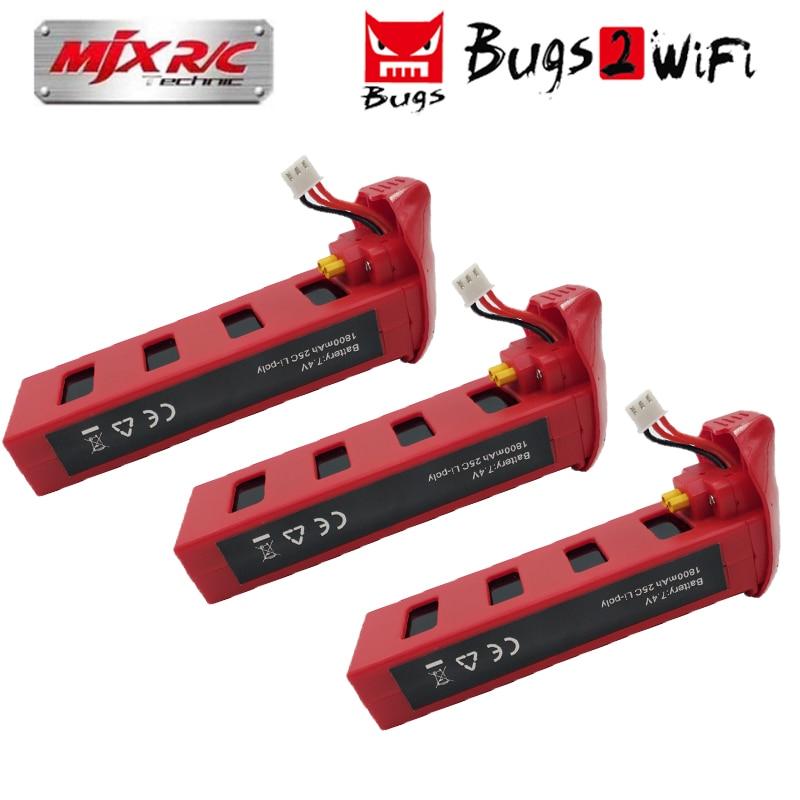 MJX bichos 2 B2W B2C batería de 7,4 V 1800 mAh 25C Lipo batería para B2 sin escobillas RC Drone Quadcopter helicóptero de espaã a