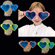 Hot Large Cosplay Funny Sunglasses Heart Shape Party Oversized Glasses Blue New