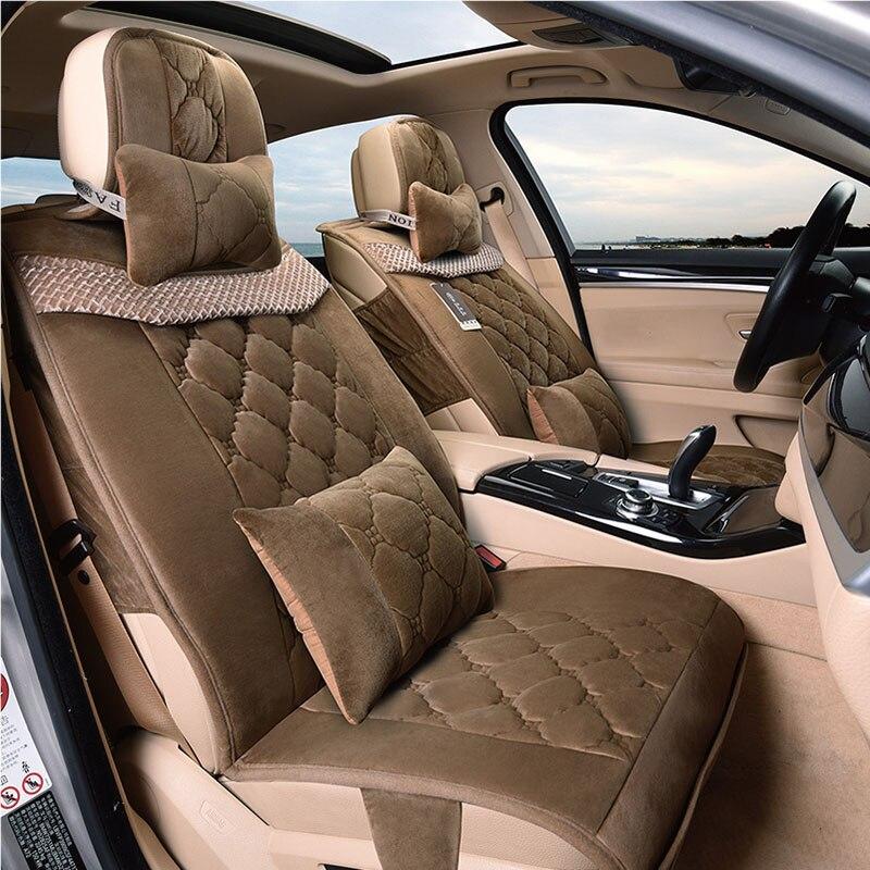 3D зимние плюшевые сиденья Подушки для BMW Audi Honda Toyota Ford Nissan все автомобили