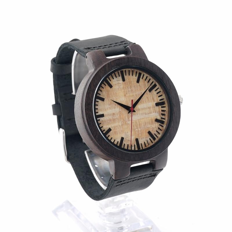 BOBO BIRD V-C23 남성 석영 손목 시계 수제 나무 시계 - 남성 시계 - 사진 3
